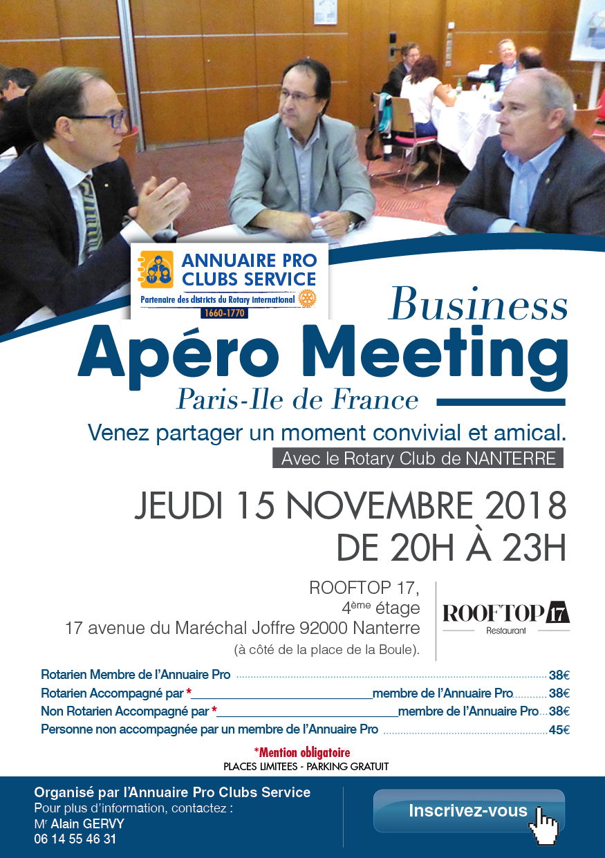 invitation apero meeting nov 18 - 4