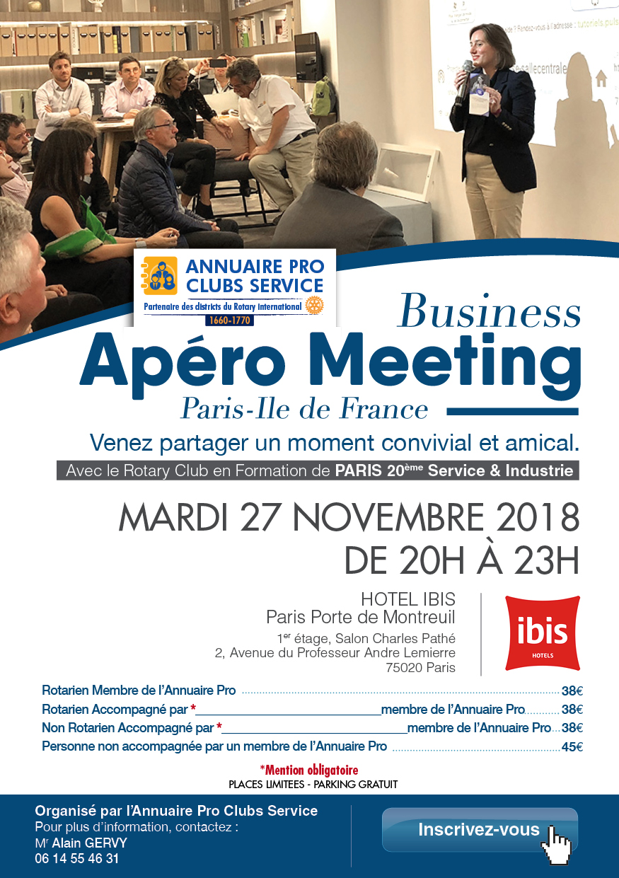 invitation apero meeting oct 18 - 5